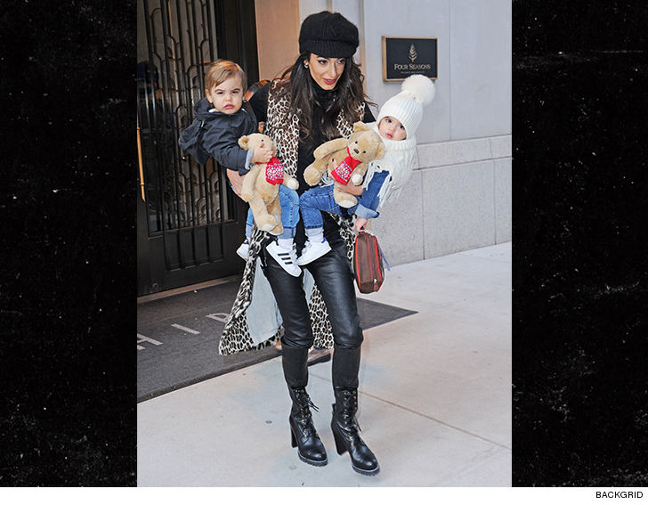 Amal Clooney Mommy Duty x 2 ... Takes Twins Out in NYC