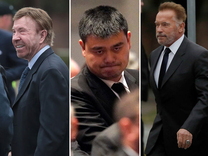 Image result for celebrities at george bush funeral