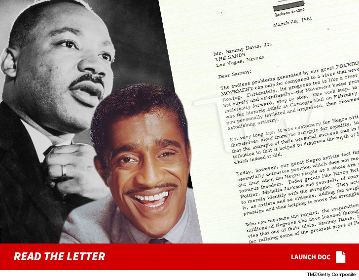 Martin Luther King Jr. 1961 'Thank You' to Sammy Davis Jr. ... Yours for 5 Figures!!!