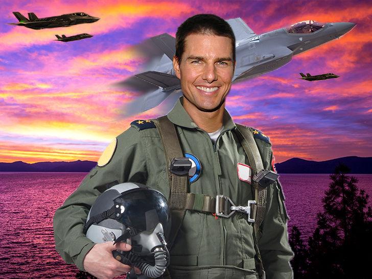 Tom Cruise Filming Action Scenes for 'Top Gun 2' in Lake Tahoe
