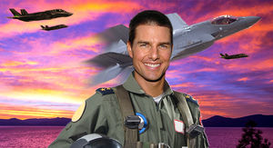 Tom Cruise Filming Action Scenes for 'Top Gun 2' in Lake Tahoe