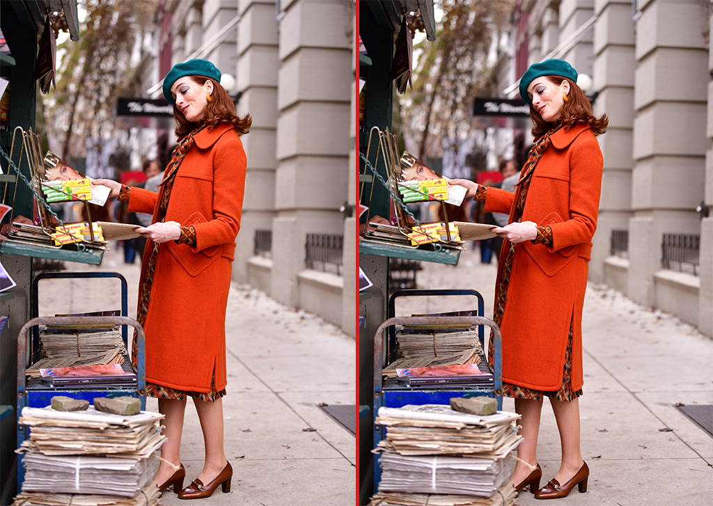 Can you spot the THREE differences in these Anne Hathaway photos?