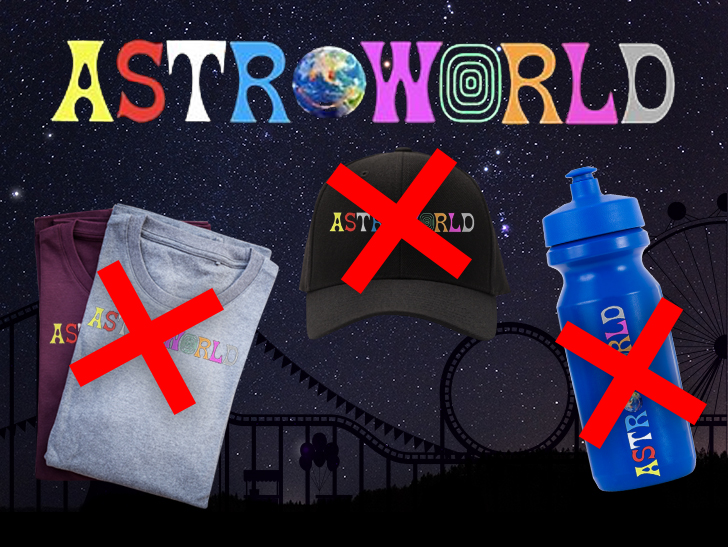 Travis Scott got a judge's approval to put the kibosh on bootleggers at his Astroworld shows.