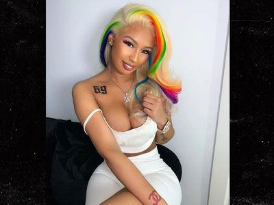 Tekashi 6ix9ine's Girlfriend Gets '69' Tattoo & Rainbow Hair, Meek Mill Cracks Joke