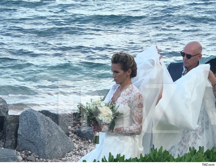 Katie Cassidy seemed to be in a very serious state of mind before walking down the aisle this weekend.