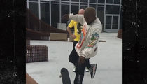 Kanye West Gets Skateboard Lesson on How to Do an Ollie