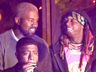 Kanye West and Lil Wayne Chill Together in Miami Nightclub