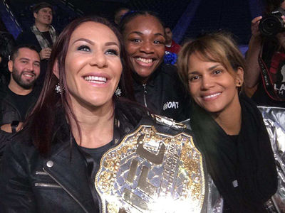 Halle Berry Has 'Girls' Night Out' With Cris Cyborg At Violent Boxing Match