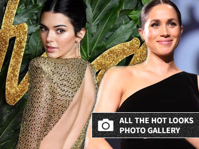 Kendall Rocks Totally SEE-THROUGH Gown While Meghan Flashes Big Bump at Fashion Awards!