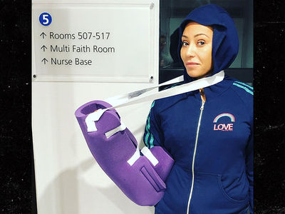 Mel B Hospitalized After Severing Her Hand, Breaking Ribs in Accident