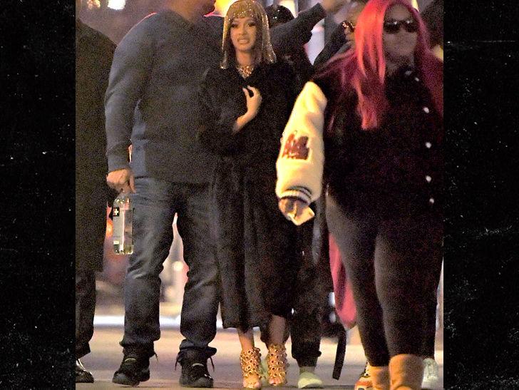 Cardi B Wears Headpiece in New Music Vid, Possibly Dissing Nicki Minaj