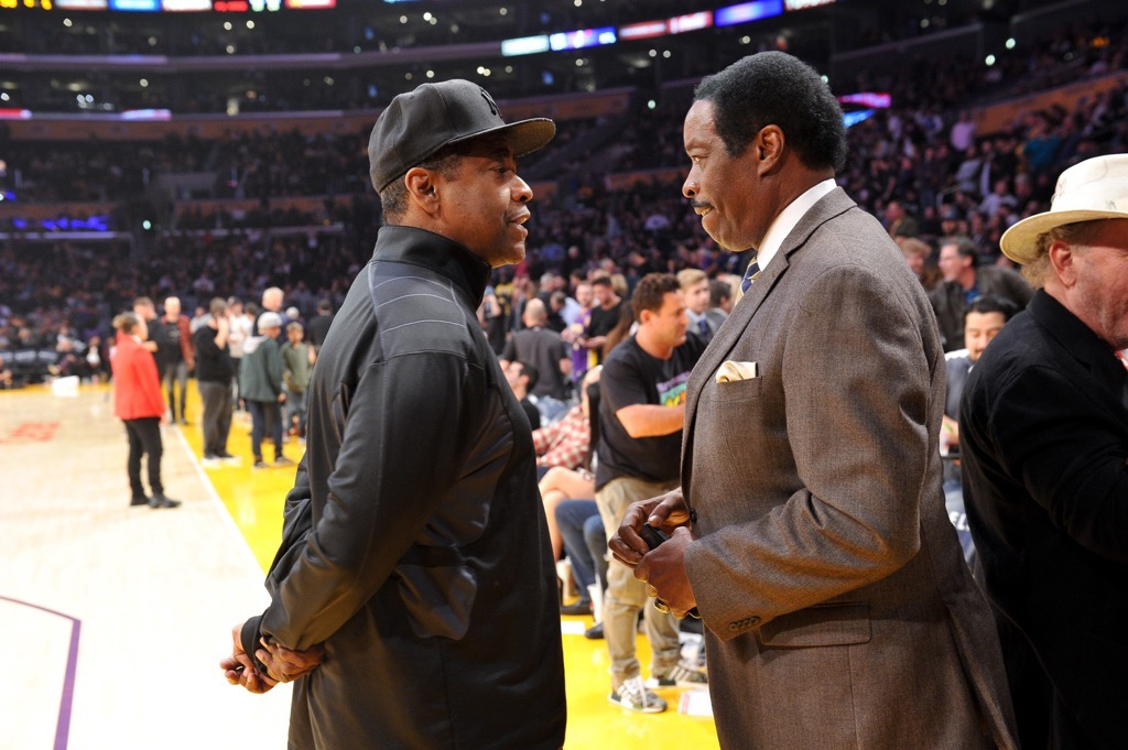 Jim Hill and Denzel Washington