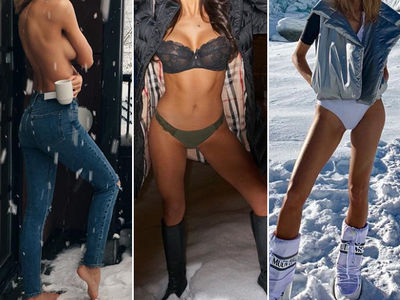 Hot Babes In Cold Snow -- Guess Who!