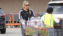 Anna Kournikova Hauls Tons of Booze Out of Costco