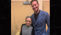 Armie Hammer & Justin Theroux Meet the Real Ruth Bader Ginsburg in D.C.
