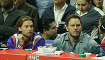 Chris Pratt & Patrick Schwarzenegger Bro Out at Clippers Game