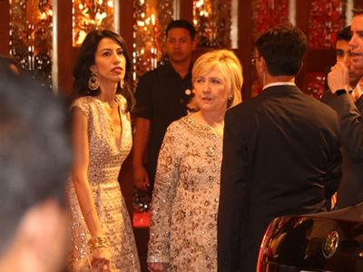 Hillary Clinton Still Partying at Billionaire Daughter's Indian Wedding