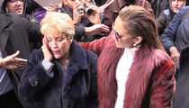 Jennifer Lopez's Mom Gets Hit in the Head As They Are Mobbed By Fans in New York