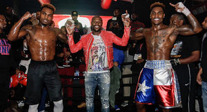 Floyd Mayweather Hits Up Charlo Twins' Workout in Houston