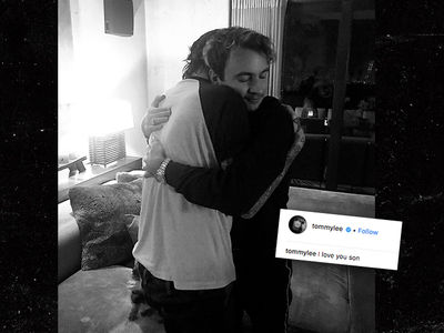 Tommy Lee and Son Brandon Reconcile with Heartfelt Hug After Bitter Yearlong Beef