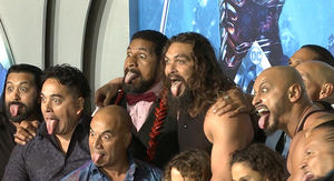 Jason Momoa Opens 'Aquaman' Premiere by Performing Intense Haka with His Kids