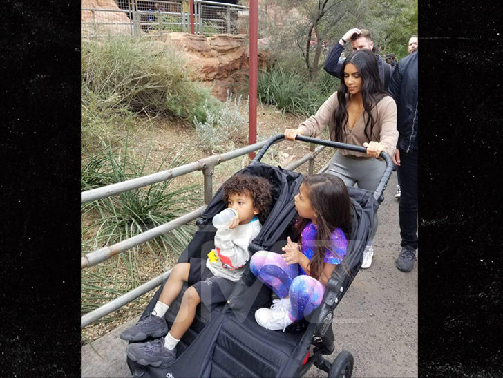 Kim Kardashian Takes Kids to Disneyland in Wake of Kanye's Drake Twitter War