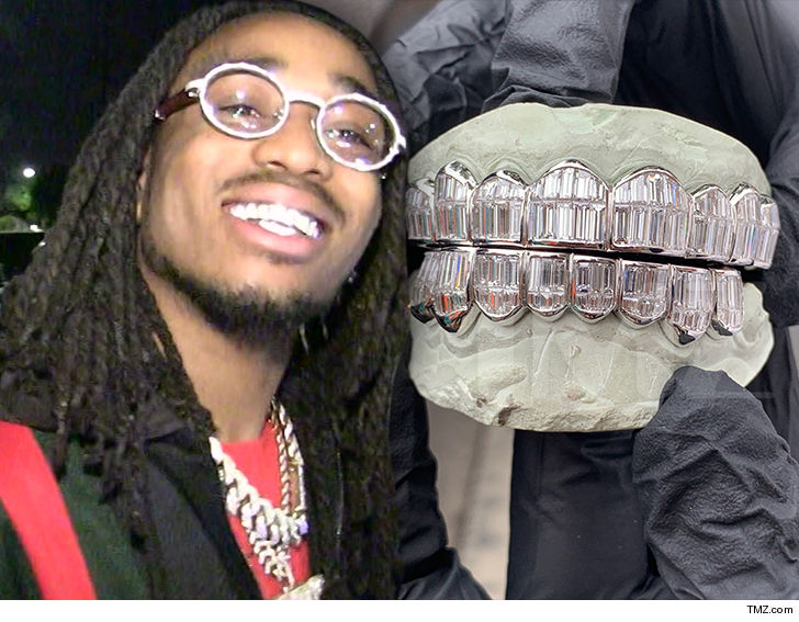 Image result for Quavo Drops Almost $250,000 on Custom Diamond Grillz