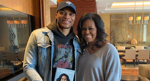 Russell Westbrook Runs Into Michelle Obama In Denver