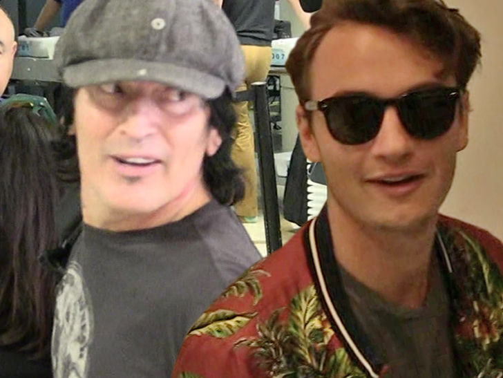Tommy Lee's son, Brandon, decided enough was enough with their beef and extended an olive branch over Thanksgiving.