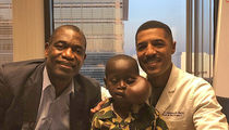 Child Dikembe Mutombo Brought to U.S. in Surgery for Tumor Removal