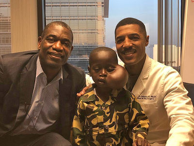 Child Dikembe Mutombo Brought to United States is in Surgery for Tumor Removal