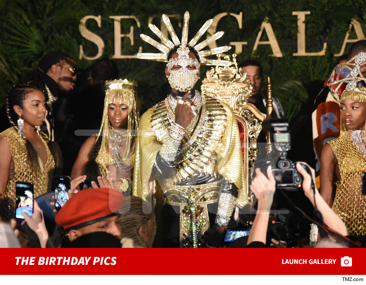 Offset Masks His Face In Diamonds At Birthday Party After