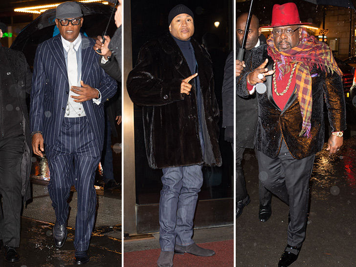 Samuel L Jackson Parties Ahead Of 70th Birthday With Celeb Friends