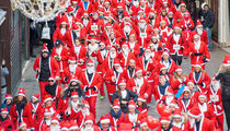 Sleigh Through These Snaps From The Santa Claus Run In Italy!