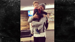 AJ McCarron Has Adorable Airport Reunion With Son, 'DADDY!!!!!!!!!'