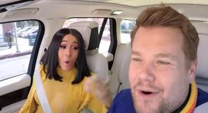Cardi B Cuts Loose on 'Carpool Karaoke,' Gets a Driving Lesson Too