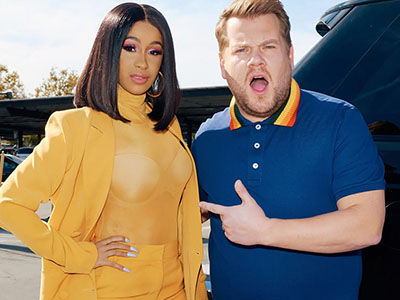 Cardi B Totally Gets HIT ON by and Old Man on 'Carpool Karaoke,' Thinks Jame Corden Is 'NASTY'