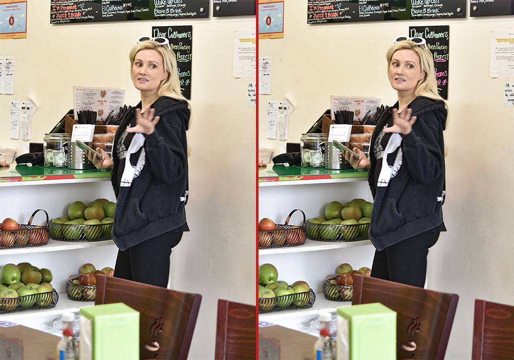 Can you spot the THREE differences in these Holly Madison photos?