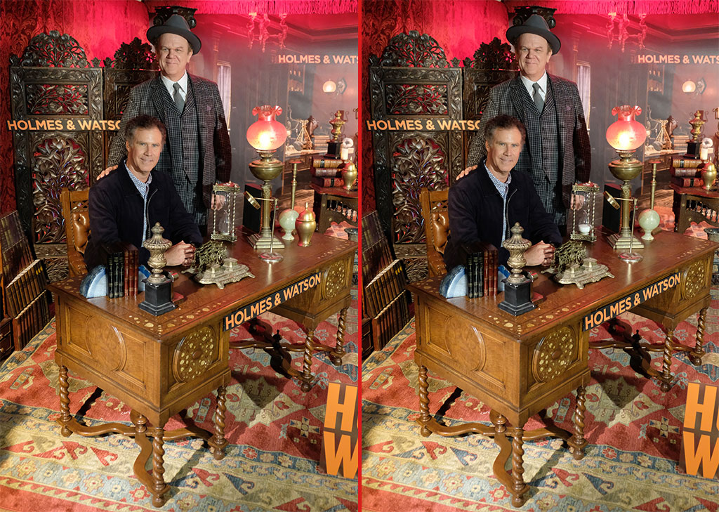 Can you spot the THREE differences in these Will Ferrell and John C. Reilly photos?