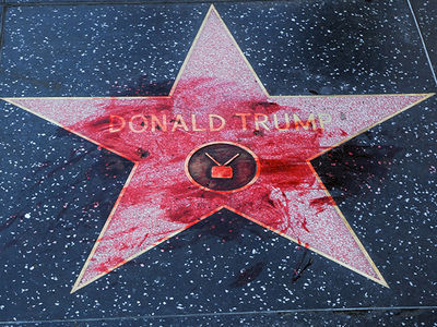Trump's Hollywood WoF Star Won't Get More Protection After Vandalism Spree