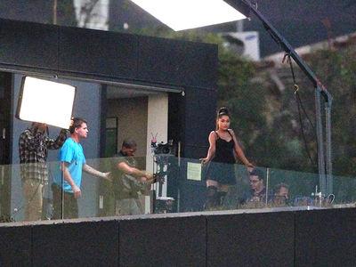 Ariana Grande Puts Pete Davidson Drama Aside to Shoot Music Vid in Hollywood