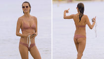 Alessandra Ambrosio Hits the Beach for Volleyball in Hot Bikini