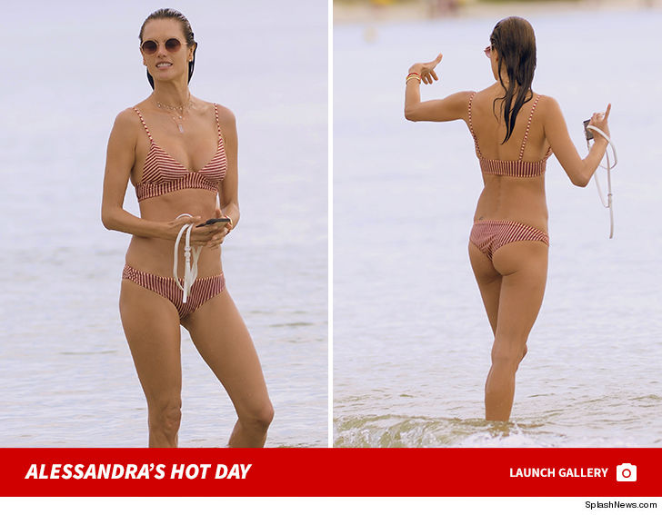 d0d7905d27e9f Alessandra Ambrosio Hits the Beach for Volleyball in Hot Bikini ...