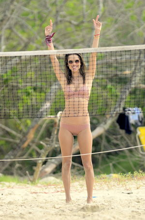 Alessandra Ambrosio's Beach Volleyball Shots