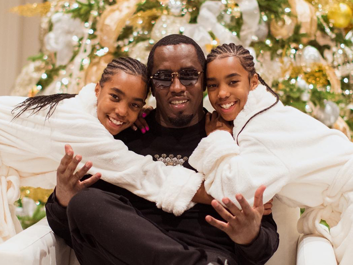 diddy and twins send christmas wishes as they cope with kim porter s
