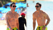 Mark Wahlberg Shows Off His Beach Bod on Boxing Day in Barbados