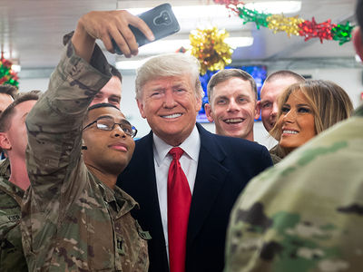 Donald Trump and Melania Make Surprise Trip to Iraq to Visit U.S. Troops