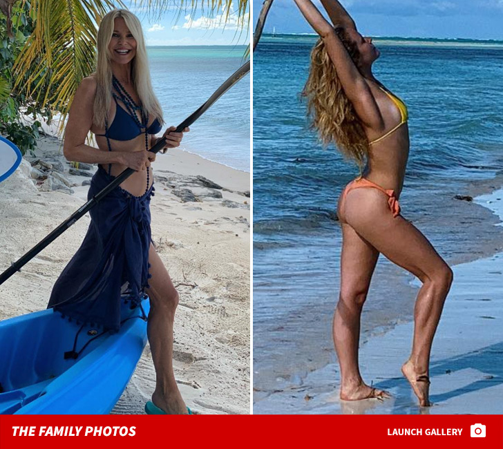 Christie Brinkley and Sailor Brinkley Cook Looking Hot During Tropical  Christmas Trip