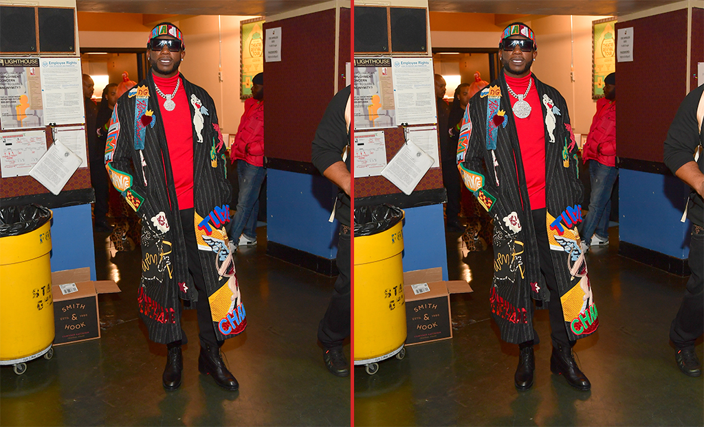 Can you spot the THREE differences in these Gucci Mane photos?