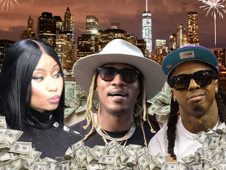 Nicki Minaj, Lil Wayne and Future Set to Collect Huge Checks for NYE Parties
